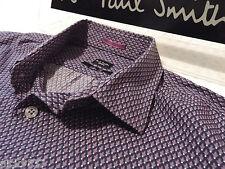 """PAUL SMITH Mens Shirt �� Size 16"""" (CHEST 42"""") �� RRP £95+ �� FLORAL/FLEUR DE LIS"""
