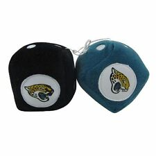 """ONE SET OF JACKSONVILLE JAGUARS,OFFICIALLY LICENSED, 3 """", FUZZY DICE"""