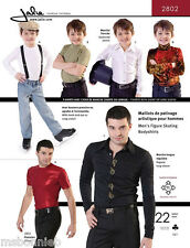 Jalie Men's & Boys Figure Skating Bodyshirts Sewing Pattern 2802 in 22 Sizes