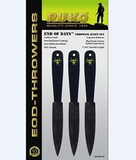RUKO END OF DAYS SET OF 3 THROWING KNIFE SET WITH SHEATH MODEL G303B-CS
