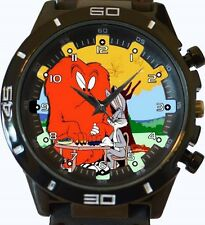 Hairy Monster Vs Bugs Bunny Nuevo Gt Series de deportes Unisex Regalo Reloj
