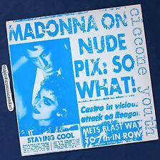 ANDY WARHOL ART COVER MADONNA ON NUDE PIX: CICCONE RECORD 1986 ORIGINAL NM RARE