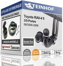 ATTELAGE fixe TOYOTA RAV4 3/5-Portes 2000-2006 + FAISC.UNIV.7 broches COMPLET