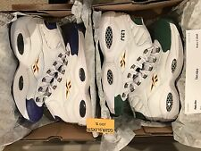 Reebok Question Mid 2 PAIRS For Player Use Only Green & Purple SZ 12 DEADSTOCK