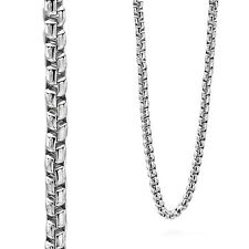 Fred Bennett Men's Stainless Steel Large Belcher Link Chain Necklace 60cm N3735