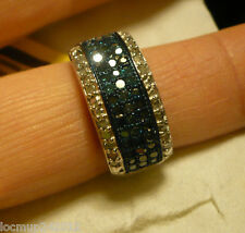 Blue Velveet Diamond Ring Size 8  34 diamonds .35tcw MSRP$724.00