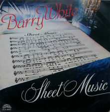 "7"" 1980 ITALY PRESS ! BARRY WHITE : Sheet Music / VG+"