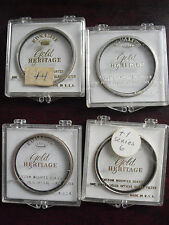 Lot of 4 Vintage Ednalite Gold Heritage Lens Filters in Boxes +1 2 3 4