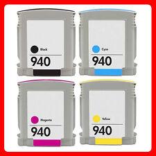 4 Ink NON-OEM Cartridge for HP 940 XL Officejet Pro 8500 Wireless Pro 8500A Plus