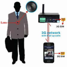 3G Button Spy Camera Hidden Wireless SIM GSM DVR Android Cheat Exam Test Phone