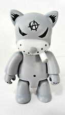 "GRAY CAT Smoking ANARQEE Frank Kozik 2.5"" figure - Smash The State - keychain"