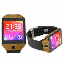 Skinomi Carbon Fiber Gold Skin+Screen Prot for Samsung Galaxy Gear 2 NEO Watch