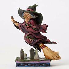 Flying Witch Graveyard figurine Jim Shore Heartwood Creek Halloween Home Decor