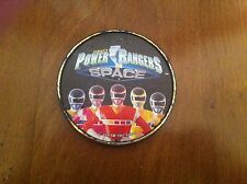 vintage 1997 Saban's Power Rangers Space button Mighty Morphin Plastic clip RARE