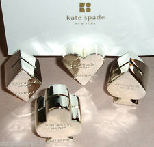Kate Spade Lenox Gin Rummy Place Card Holders Silverplate SET/4 Mixed New
