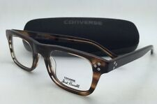 New CONVERSE Eyeglasses P004 UF 50-21 145 Brown Horn Frame w/ Clear Demo Lenses