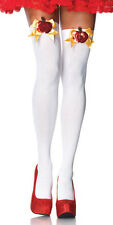 SALE LEG AVENUE Opaque Thigh High Tights With Poison Apple Accent Fairytale 6121