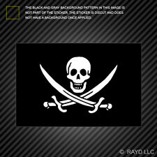 Jolly Roger Calico Jack Rackham Flag Sticker Decal Self Adhesive Vinyl pirate