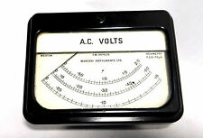 Vintage WESTON UK AC Volts 3-Range 0-.15 0-.5 0-2.0 Panel Mount Analog Meter
