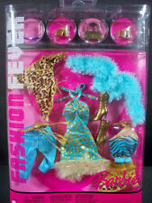 NEW BARBIE DOLL FASHIONS 2005 FASHION FEVER #G8996 BLUE BROWN LEOPARD OUTFITS