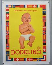 Affiche originale ancienne  entoilée - DODELINO - Années 60