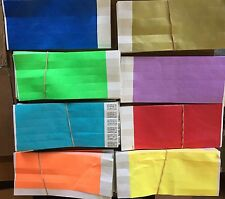 10,000 MIXED SOLID COLOR Tyvek Wristbands Security Club Bar pulseras