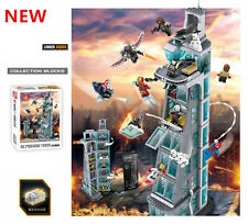 Super Heroes Attack on Avengers Tower Iron Man Minifigures Blocks DIY Toys Gifts