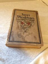 Antique 1911 Zwei Menschen By Richard Ross HC written in German