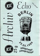 DFB-Pokalendspiel 1996 Karlsruher SC - 1. FC Kaiserslautern, 25.05.1996 - KSC