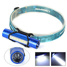 Mini Q5+6LED Pocket Flashlight 18650 Headlamp 3mode  Head Light Torch+AAA Holder