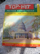 Vintage Top Hit Pre Teen Picture Puzzle US CAPITOL Fairchild Rochester New York