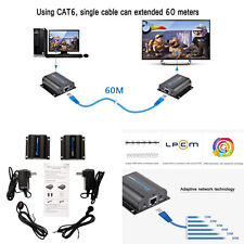 196ft LKV372A HDMI Network Extender Over Single cable with IR cat6e/6 3D&1080P