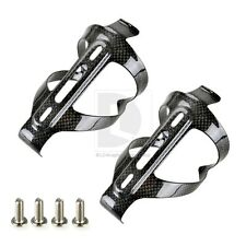 New 2pcs Carbon Fibre Water Bottle Cages Black For Cycling Road Bike Bicycle MTB