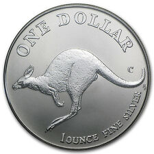 1998 1 oz Australian Silver Kangaroo Coin - In Display Card - SKU #12077