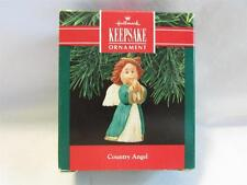 1990 Hallmark Country Angel Christmas Ornament IOB RareT4