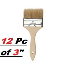 "Lot of 12 3"" Chip Brush Brushes Perfect for Adhesives Paint Touchups 3 Inch"