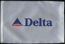 Delta Airlines fabric one side desk flag pennant new (no stand) box003