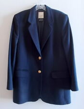 Laurel Clasics by Escada Dark Navy Blue 100% Cashmere Blazer Jacket 40