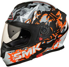 SMK Helmets - Twister - Attack Orange - Full Face Dual Visor Motorcycle Helmet