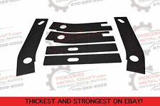 6 pc Frame Repair Rusted Shackle  Weld Plates 1986-1995 Jeep Wrangler YJ Rear