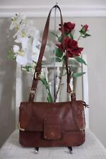 Schuler and Sons Philadelphia Brown Leather Clutch Crossbody Bag (PU100