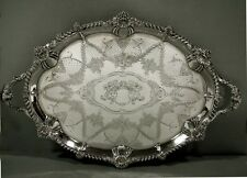 English Sterling Tea Tray                  1807           LION HANDLES    145 OZ