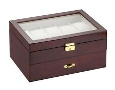 Diplomat Burlwood Ten Watch Storage Display Box Organizer Chest Case