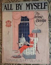 1921 Sheet Music ALL BY MYSELF by IRVING BERLIN - STITCHED BINDING