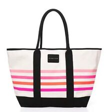 Victorias Secret Sunkissed Tote Bag Large Striped Beach Spring 2016
