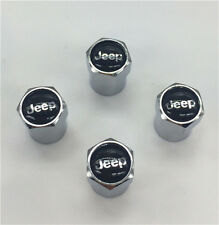 4PCS jeep Tire Wheel Rims Stem Air Valve Caps Tyre Cover Car Truck Bike