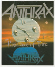 ANTHRAX  PERSISTENCE OF TIME   mini-poster édité en 1990