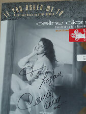 "Celine Dion signed ""IF YOU ASKED ME TO""  Sheet Music. In Mint Condition.."