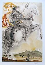 Salvador Dali DON QUIXOTE Limited Edition Facsimile Signed Art Lithograph