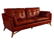 Bantry Sofa 3 Sitzer Design Ledersofa Royal Rouge Vintage Leder Möbel Couch 3er